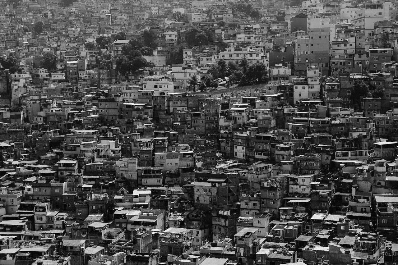 city, urban, slum