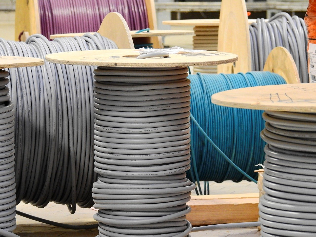 lines, cable, cable drum