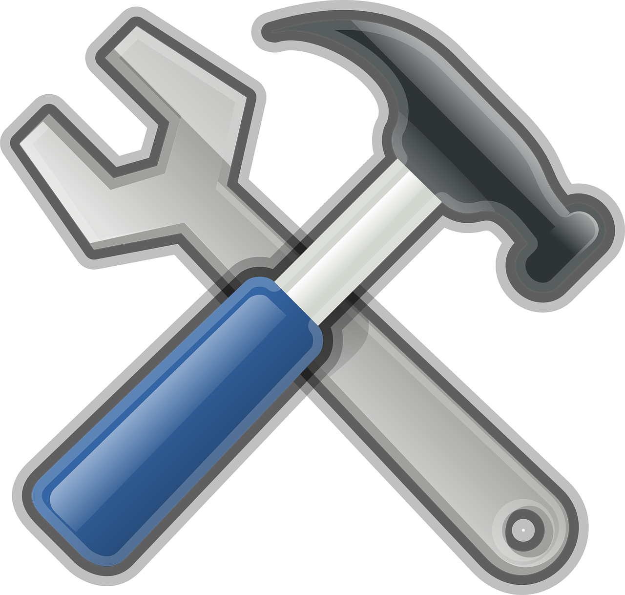 hammer, wrench, repair