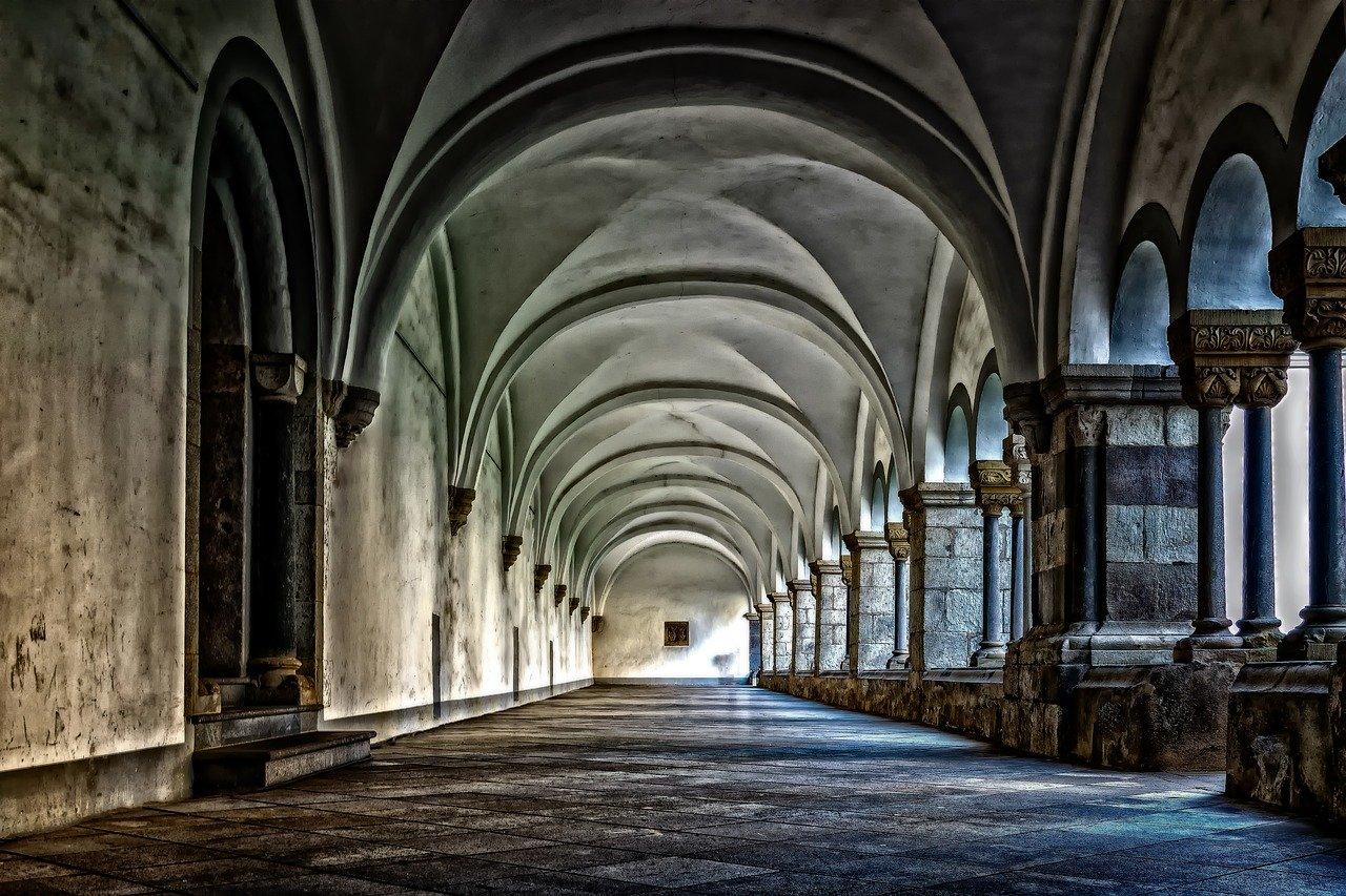 monastery, cloister, abbey