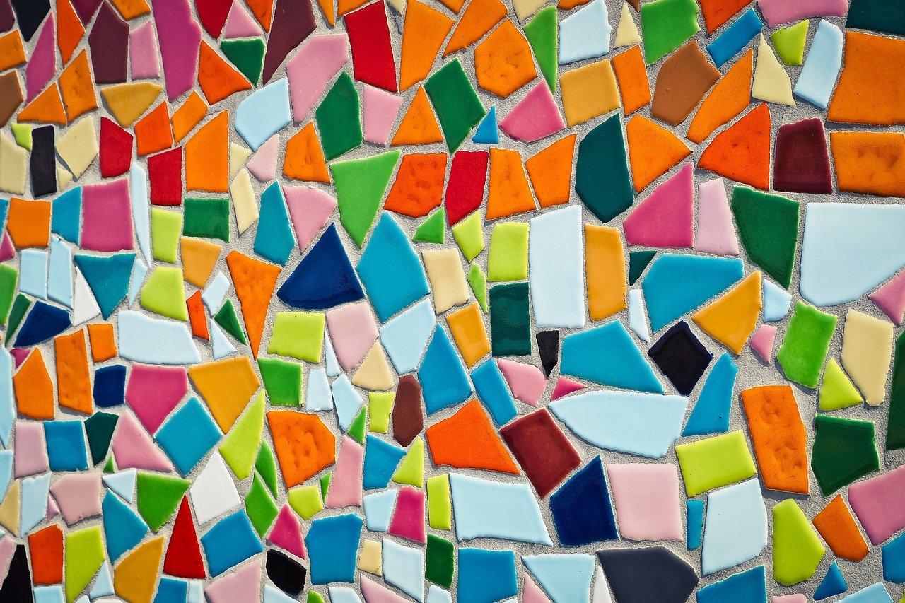 mosaic, tiles, pattern