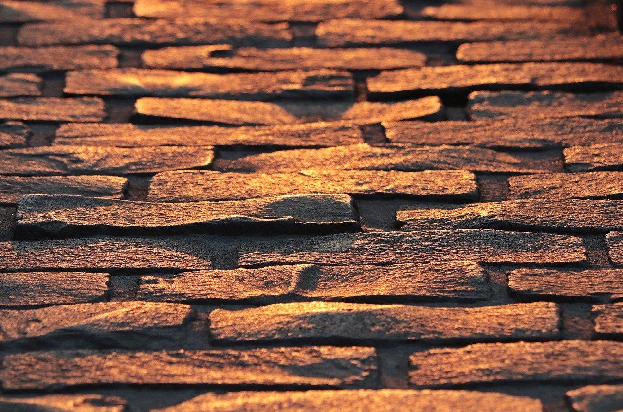 cobblestones, paving stones, patch