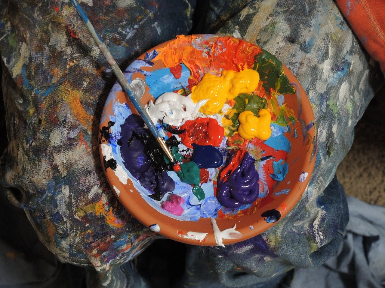 paints, colorful, painting
