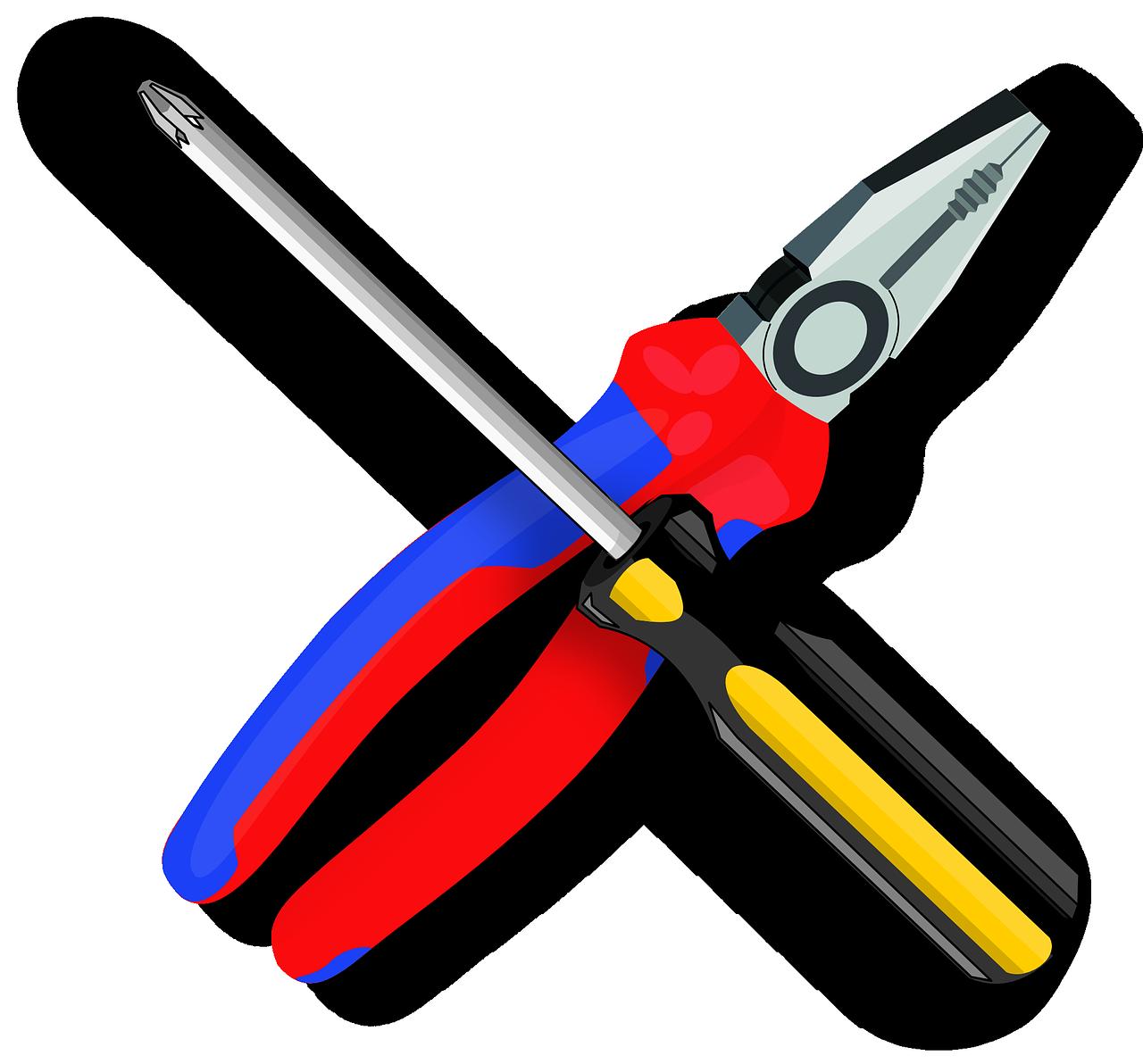 tool, pliers, screwdriver