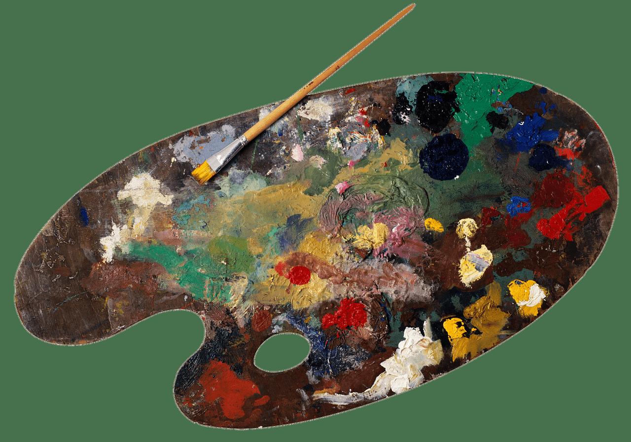 palette, paint, oil