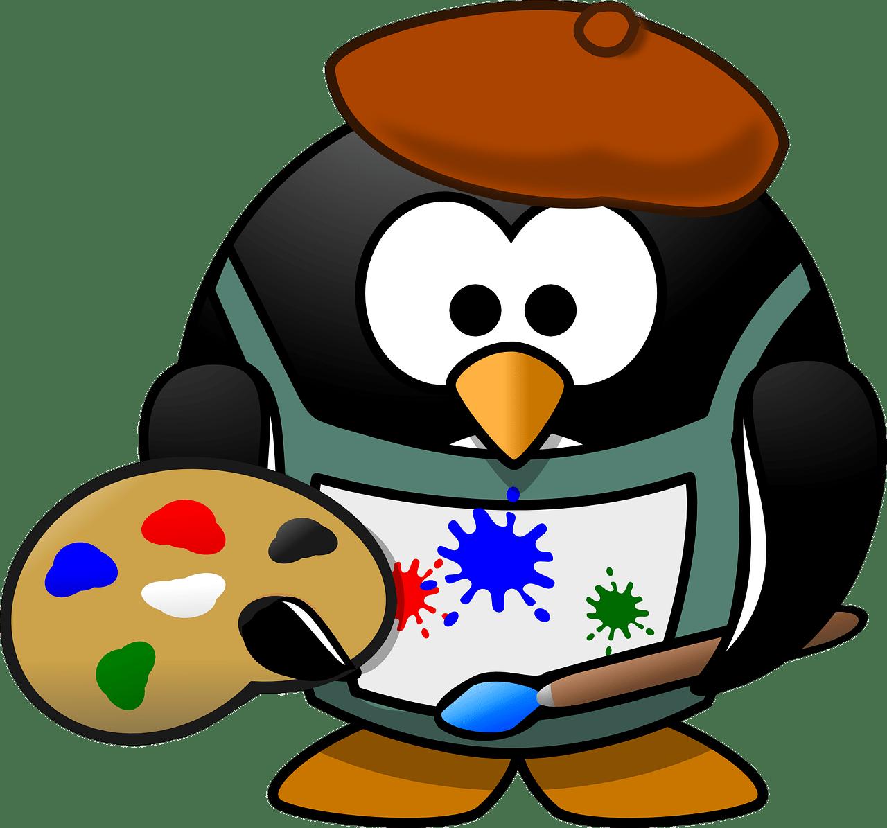 painter, tux, art