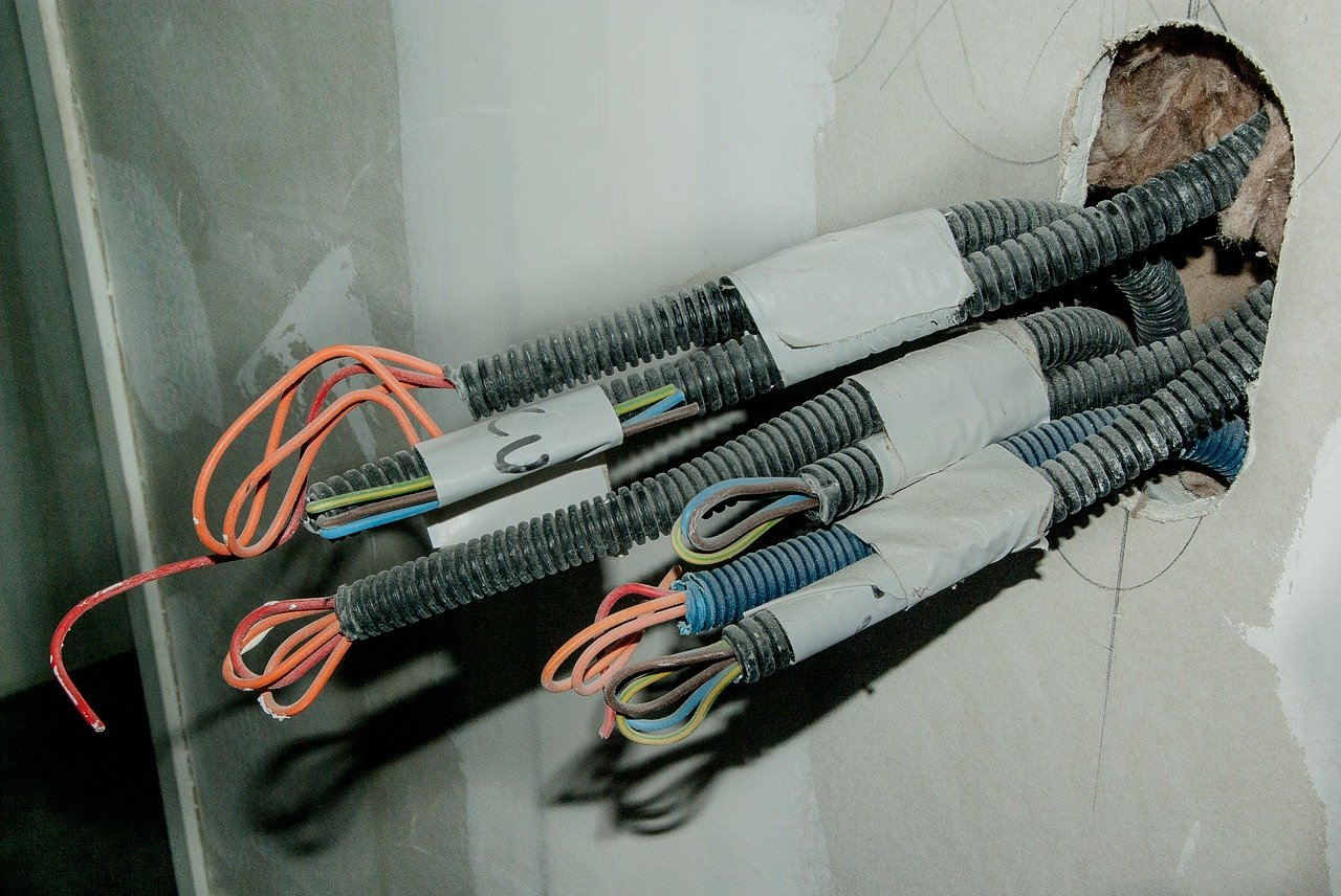 electrician, electric wires, cables