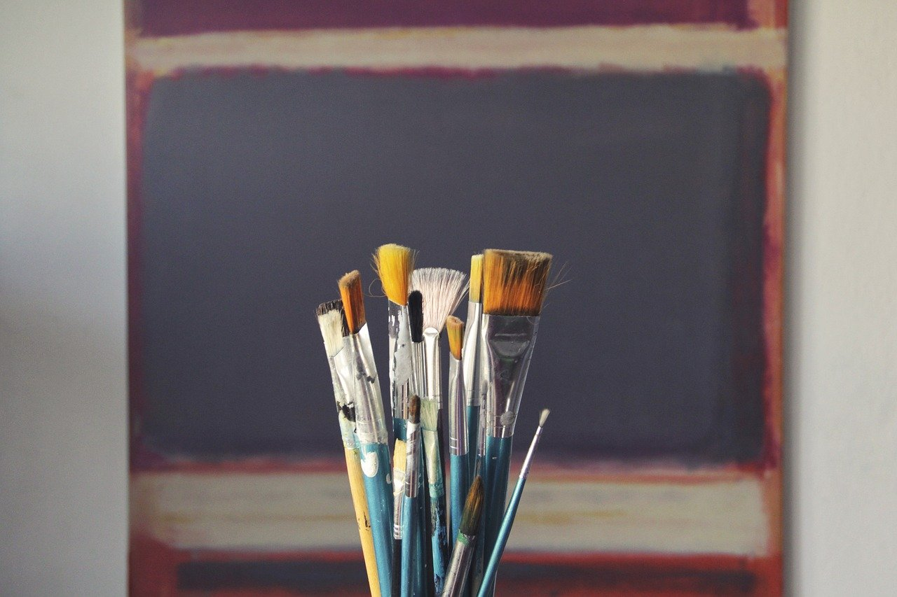 brushes, art, paint