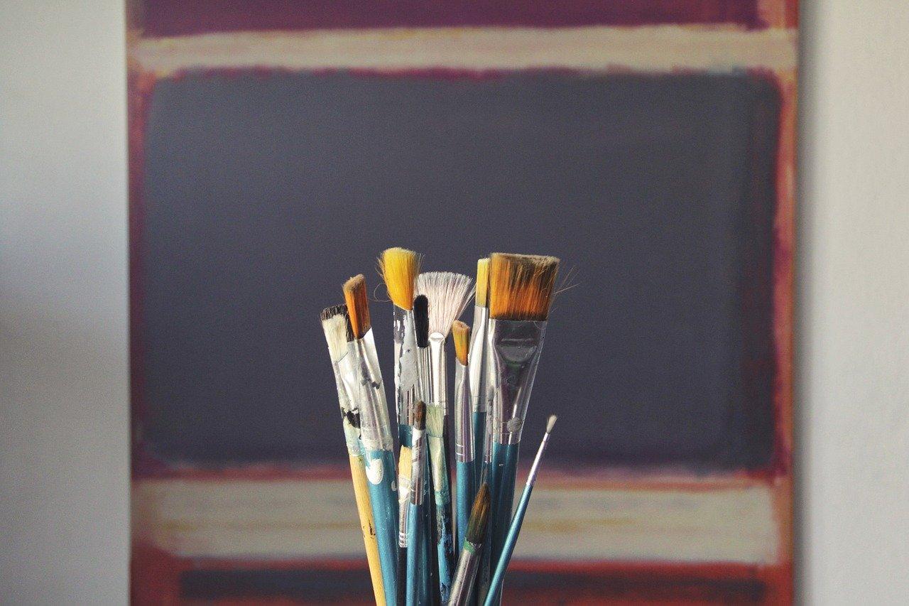 brushes, art, paint