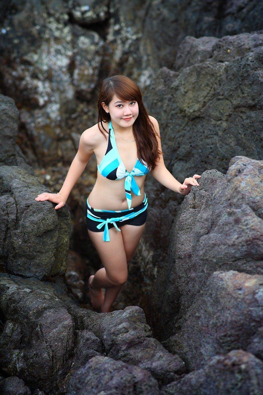 bikini, girl, summer