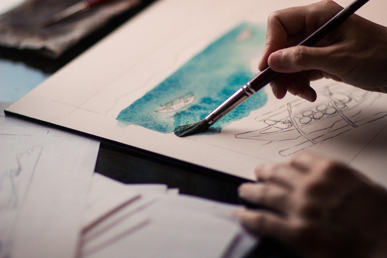 art, creative, hand