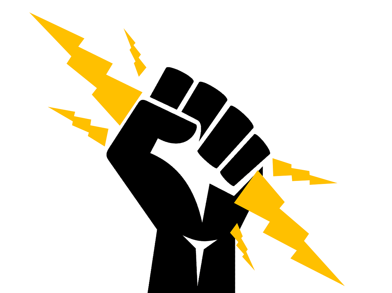 electrician, fist, power